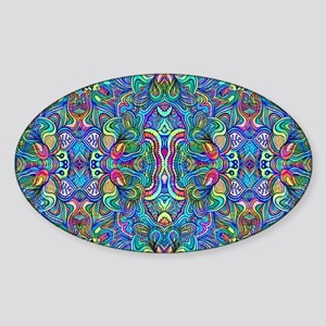 Colorful Abstract Psychedel Sticker