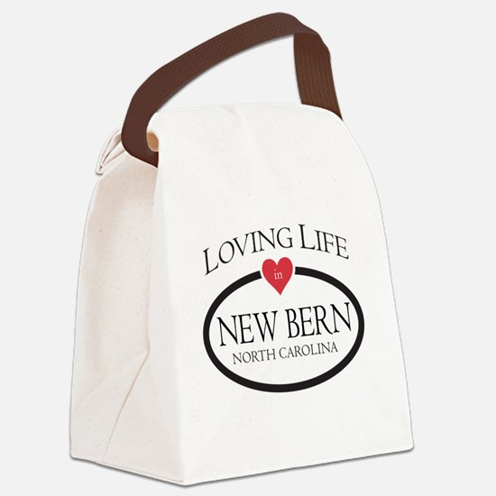 Loving Life in New Bern, NC Canvas Lunch Bag