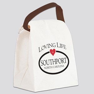 Loving Life in Southport, NC Canvas Lunch Bag