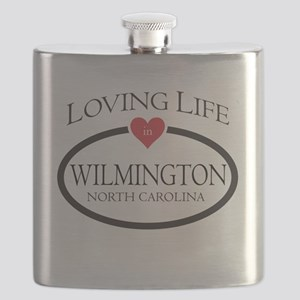 Loving Life in Wilmington, NC Flask