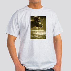 Moose Dipping His Head Into Water T-Shirt
