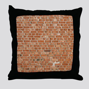 Brick Wall Throw Pillow