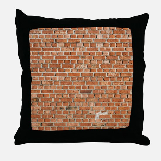 Brick Wall Throw Pillow