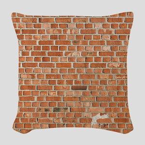 Brick Wall Woven Throw Pillow