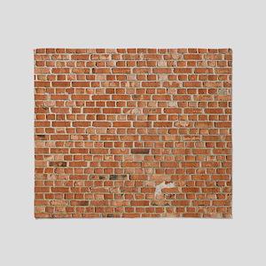 Brick Wall Throw Blanket