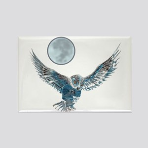 Snowy Owl Rectangle Magnet