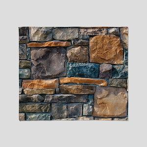 Stone Wall Throw Blanket