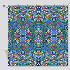 Colorful Abstract Psychedelic Symmetrical Swirls S