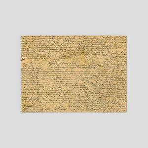 Old Manuscript 5'x7'Area Rug
