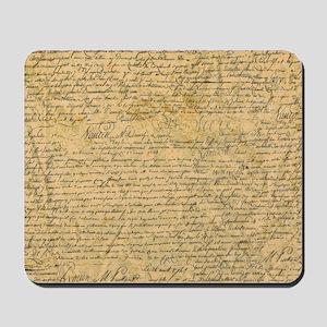 Old Manuscript Mousepad