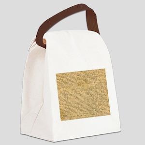 Old Manuscript Canvas Lunch Bag