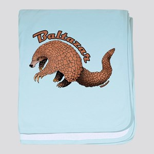 Baltazar the Pangolin baby blanket