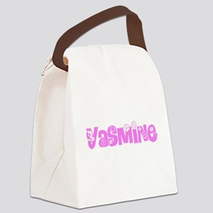 Yasmine Flower Design Canvas Lunch Bag