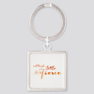 She is Fierce Square Keychain