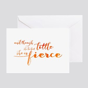 She is Fierce Greeting Card