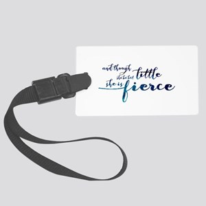 She is Fierce Large Luggage Tag