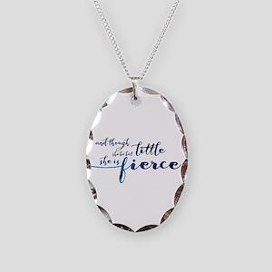 She is Fierce Necklace Oval Charm