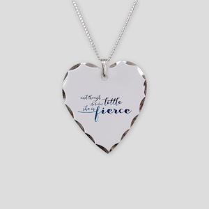 She is Fierce Necklace Heart Charm