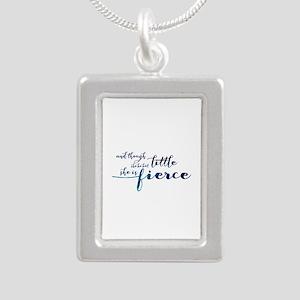 She is Fierce Silver Portrait Necklace