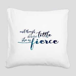 She is Fierce Square Canvas Pillow