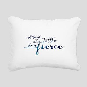 She is Fierce Rectangular Canvas Pillow