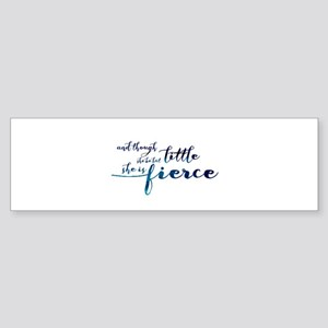 She is Fierce Sticker (Bumper)