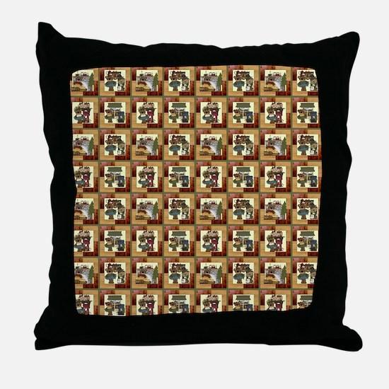 CABIN BEARS Throw Pillow