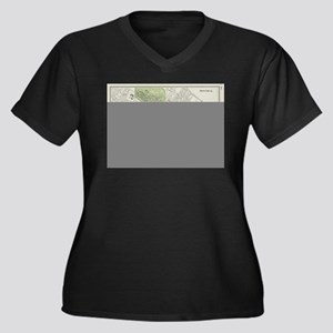 Vintage Map of Montreal (1901) Plus Size T-Shirt