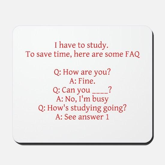 Study Time Mousepad