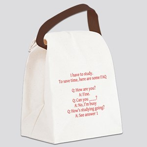 Study Time Canvas Lunch Bag
