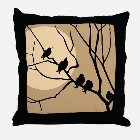 FAMILY OF BIRDS Throw Pillow