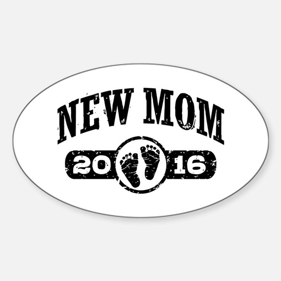 New Mom 2016 Sticker (Oval)