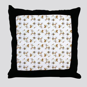 SHOPPING DOGS Throw Pillow