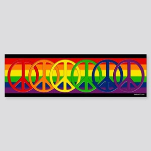 Rainbow Peace Bumper Sticker