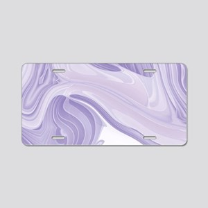 pastel lilac purple swirls Aluminum License Plate