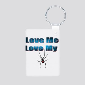 Love Me Love My Spyder Blue Keychains