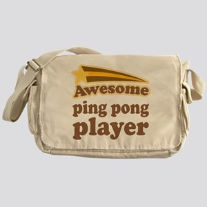 Ping Pong Player Messenger Bag