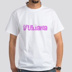 Yuliana Flower Design T-Shirt