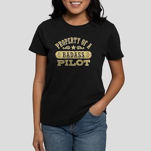 Property of a Badass Pilot Women's Dark T-Shirt