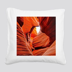 The Inner Canyon Square Canvas Pillow