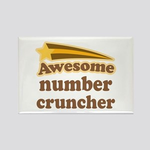 Number Cruncher Rectangle Magnet