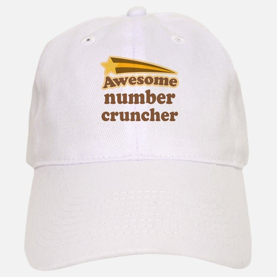 Number Cruncher Baseball Baseball Cap