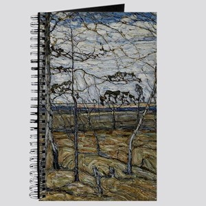 Manievich painting, Birch Trees Journal