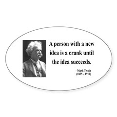 Mark Twain 35 Oval Decal