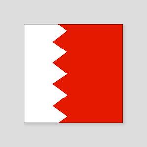 Square Bahrain Flag Sticker