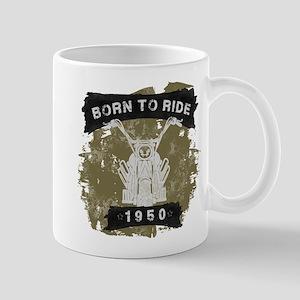Birthday Born 1950 Born To Ride Mug