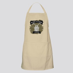 Birthday Born 1950 Born To Ride Apron