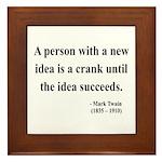 Mark Twain 35 Framed Tile