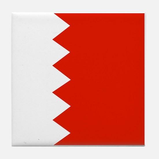 Square Bahrain Flag Tile Coaster