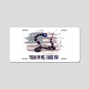 Tread On Me, I Dare You Aluminum License Plate